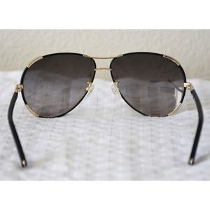 752a03c20ad Chloe Accessories - CHLOE CE100SL 752 NERINE BLACK LEATHER SUNGLASSES
